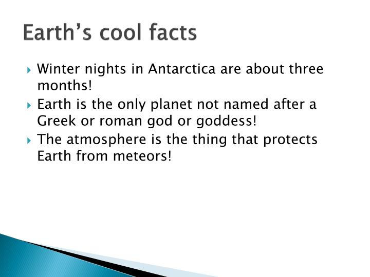 Earth's cool facts