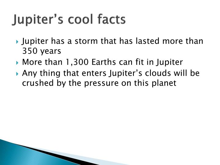Jupiter's cool facts