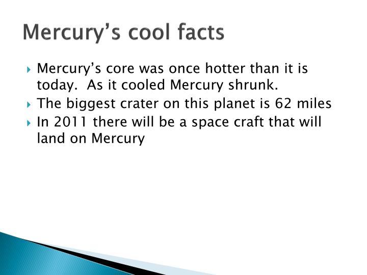 Mercury s cool facts