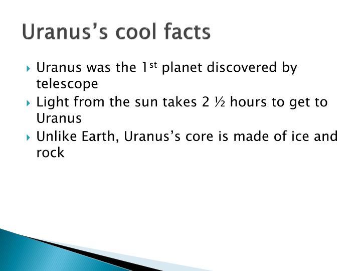 Uranus's cool facts