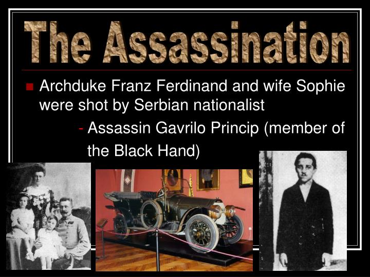 the assassination of franz ferdinand essay The assassination of franz ferdinand, the austrian archduk essay -  on the other hand, the rise of militarism is seen as one of the most plausible reasons, since it alarmed many european leaders and made them constantly worry about their foes yet, it truly does not make sense that, in order to cease.