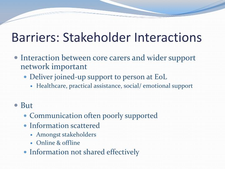 what type of stakeholder relationship exists between physicians and hospitals