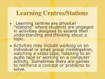 learning centres stations
