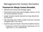 management for contact dermatitis2