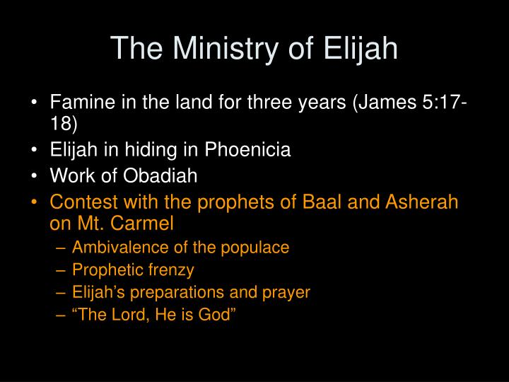The Ministry of Elijah