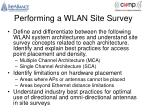 performing a wlan site survey1