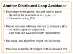 another distributed loop avoidance