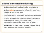 basics of distributed routing