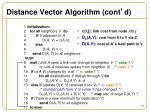 distance vector algorithm cont d