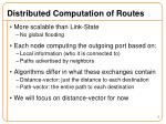distributed computation of routes