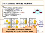 dv count to infinity problem