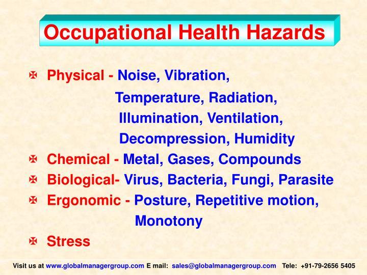 Occupational Health Hazards