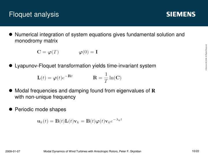 Floquet analysis