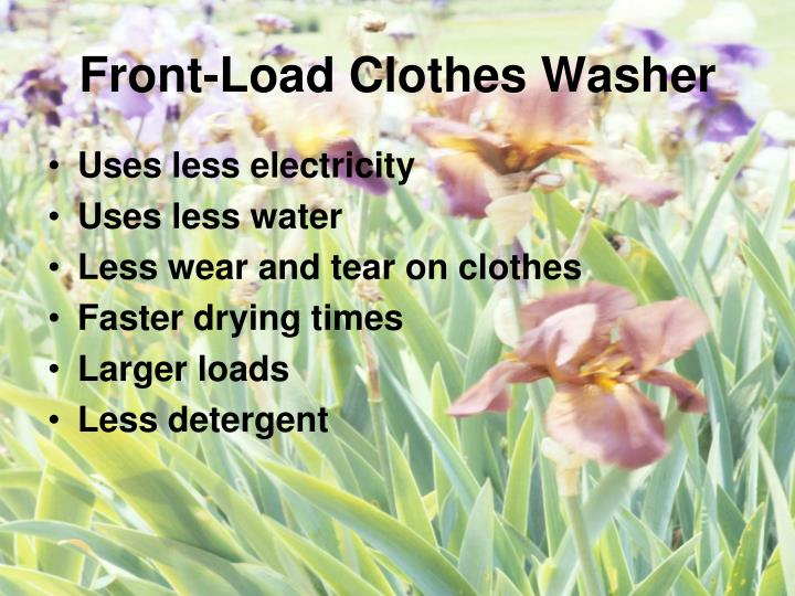 Front-Load Clothes Washer