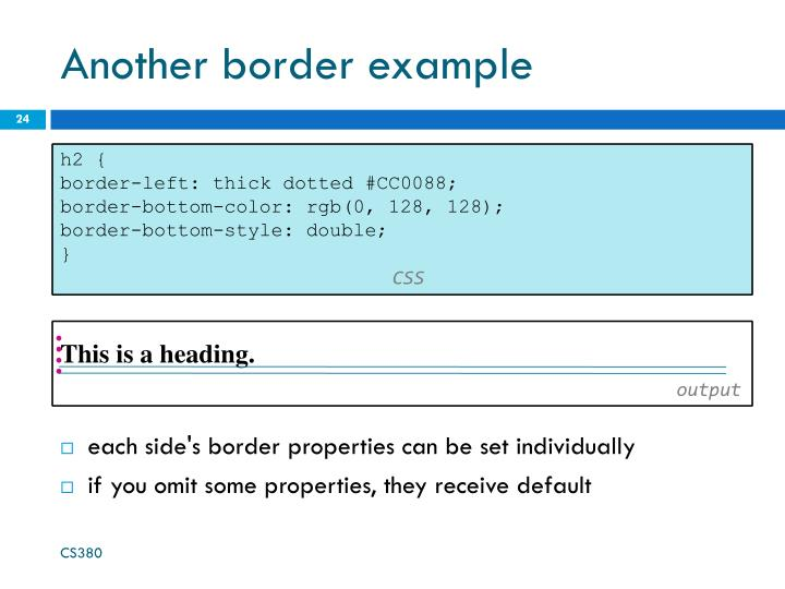 Another border example