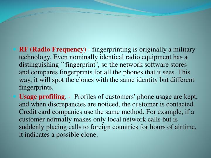 RF (Radio Frequency)