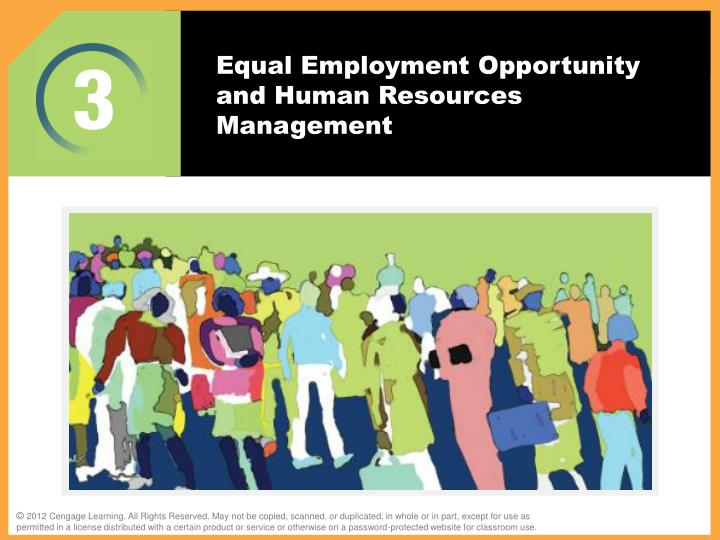 equal employment opportunity and human resources management n.