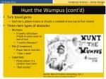hunt the wumpus cont d