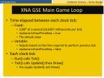 xna gse main game loop