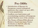 pre 1800s