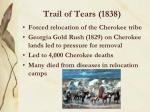 trail of tears 1838