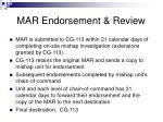 mar endorsement review