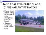 tanb trailer mishap class c mishap ant ft macon