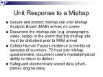 unit response to a mishap