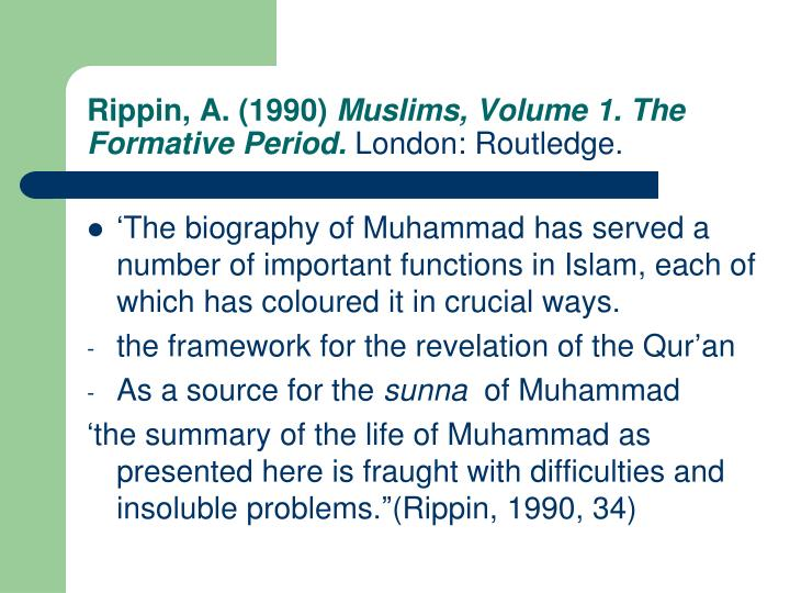 Rippin, A. (1990)