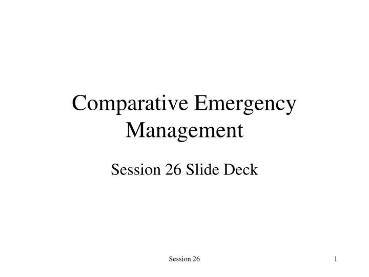 comparative emergency management n.