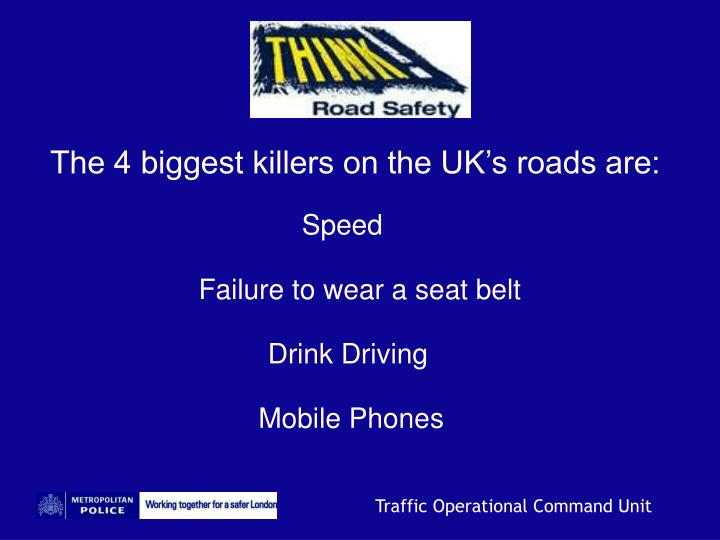 The 4 biggest killers on the UK's roads are: