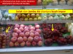 salak dan jambu air diantara buah impor