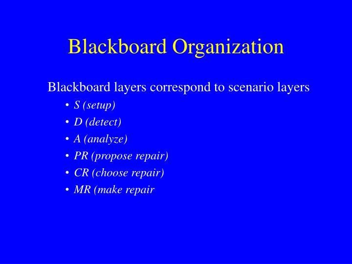 Blackboard Organization