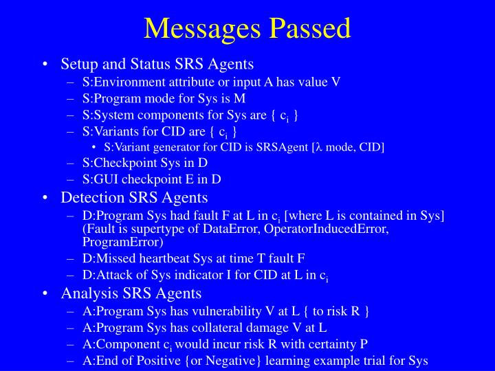 Messages Passed