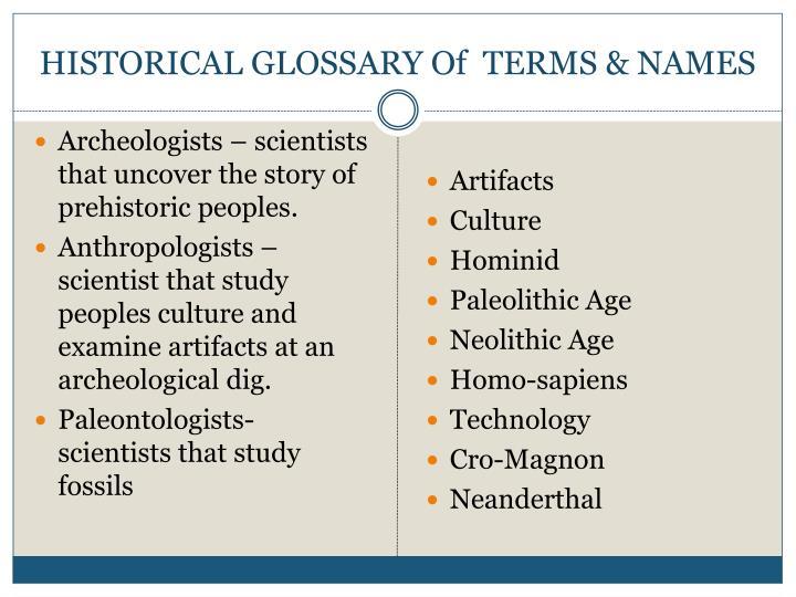 paleolithic names