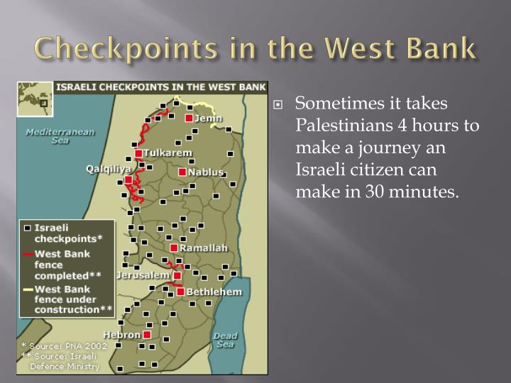 Checkpoints in the West Bank
