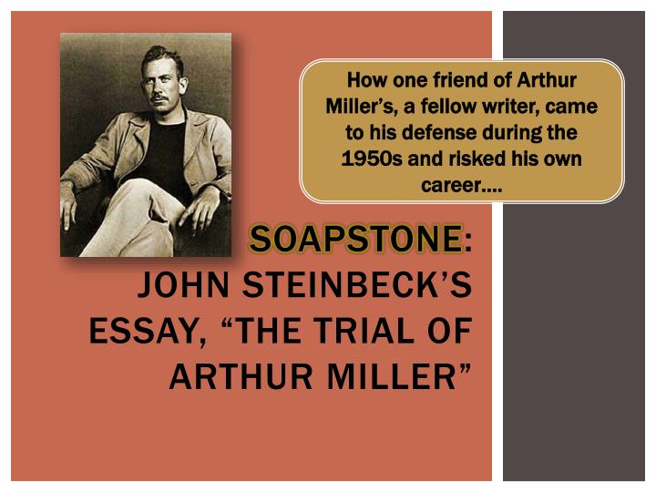 How one friend of Arthur Miller's, a fellow writer, came to his defense during the 1950s and risked his own career….