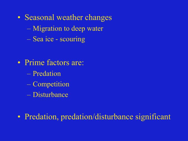 Seasonal weather changes