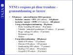 ntnus respons p disse trendene grunnutdanning av l rere