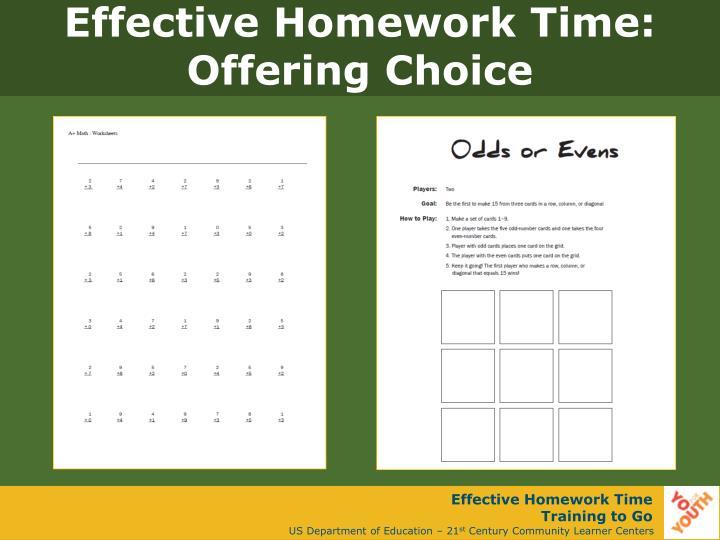 Effective Homework Time: