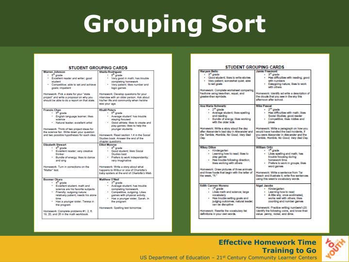 Grouping Sort