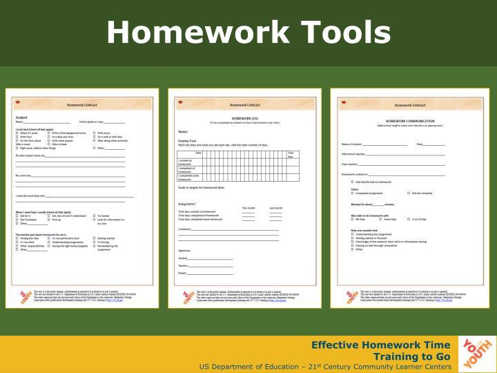 Homework Tools