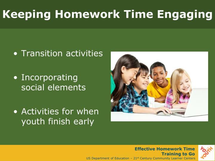 Keeping Homework Time Engaging