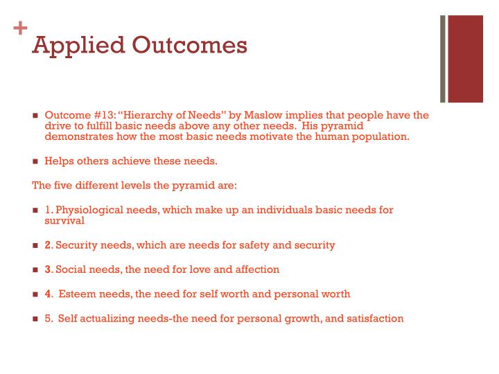 Applied Outcomes