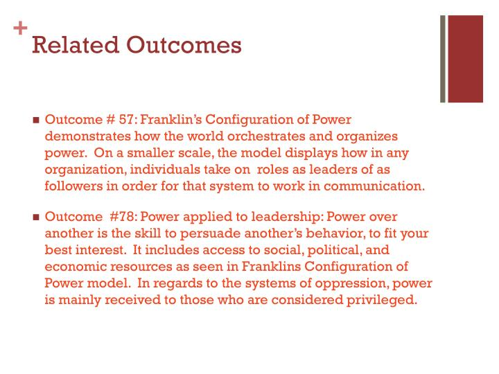 Related Outcomes