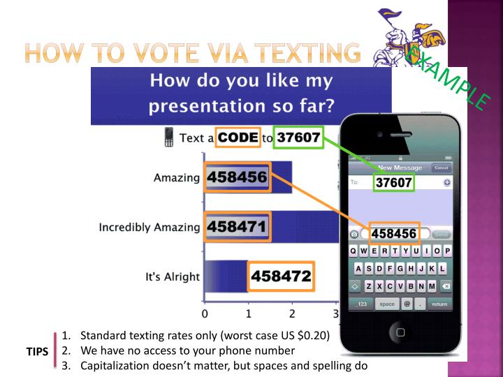 How to vote via texting