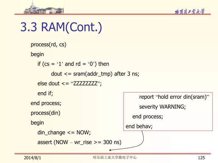 3.3 RAM(Cont.)