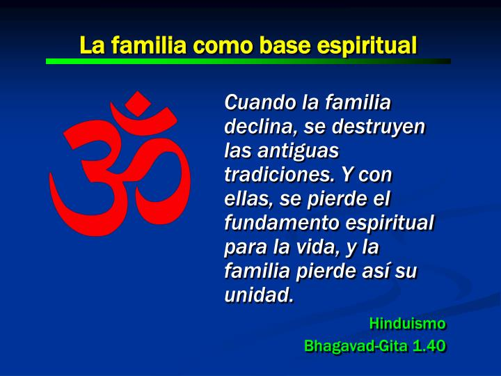 La familia como base espiritual