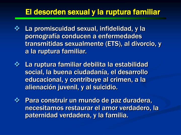 El desorden sexual y la ruptura familiar