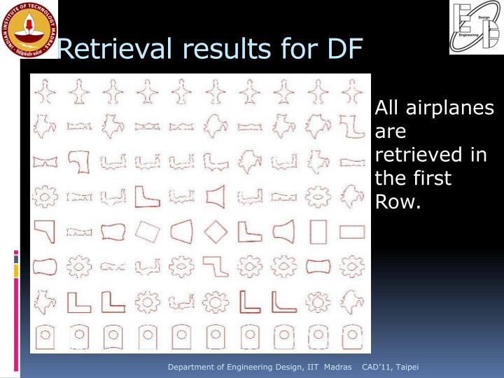 Retrieval results for DF